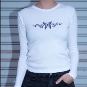 Butterfly graphic long sleeve
